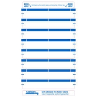 File Folder Labels, Lt Blue, 3-7/16 x 9/16, 248/Pack (59431)