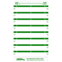 Folder Name Labels, Green, 3-7/16 x 9/16, 248/Pack (59436)