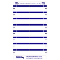 File Folder Labels, Dk Blue, 3-7/16 x 9/16, 248/Pack (59437)