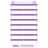 File Folder Labels, Purple, 3-7/16 x 9/16, 248/Pack (59443)