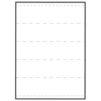 "Transcription Labels, 2"" Strips, Perf-thru (59531)"