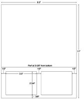 Integrated Label Form, 2-UP, 3-1/2 x 2-3/4, 1500 Sheets/CS (59807)