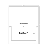 Integrated Label Form, 7-1/2 x 5-1/8, 1500 Sheets/CS (59923)