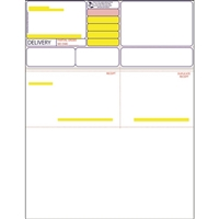 Pharmacy Label Form, Computer-Rx and SpeedScript, White/Yellow/Red 1000/Case, 59972