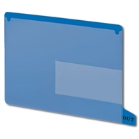 Smead 61951 Poly Out Guides, Bottom Tab, Letter Size, Blue, 25/Bx