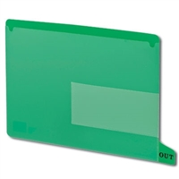 Smead 61952 Poly Out Guides, Bottom Tab, Letter Size, Green, 25/Bx