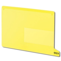 Smead 61956 Poly Out Guides, Bottom Tab, Letter Size, Yellow, 25/Bx