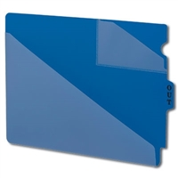 Smead 61961 Poly Out Guides, Center Tab, Letter Size, Blue, 50/Bx