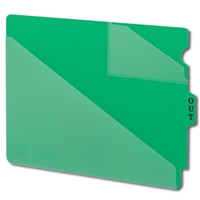 Smead 61962 Poly Out Guides, Center Tab, Letter Size, Green, 50/Bx
