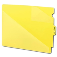 Smead 61966 Poly Out Guides, Center Tab, Letter Size, Yellow, 50/Bx
