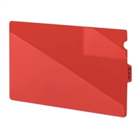 Smead 61970 Poly Out Guides, Center Tab, Legal Size, Red, 50/Bx