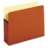 "Globe-Weis 63224 File Pockets, Rollover Tyvek-lined,  Letter Size, 3-1/2"" Exp, 25/Bx"