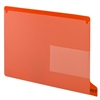 Smead 63950 Poly Out Guides, Bottom Tab, Legal Size, Red, 25/Bx
