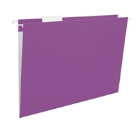 Smead Hanging File Folder w/ Interior Pocket, Letter Size, Purple, 5/Bx (64015)
