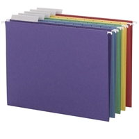 Smead Assorted Hanging Folders with 1/3-Cut tabs (64020) Box of 25