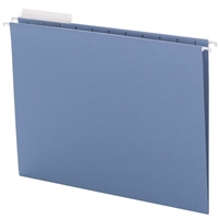 Smead Blue Hanging Folders with 1/3-Cut tabs (64021) Box of 25