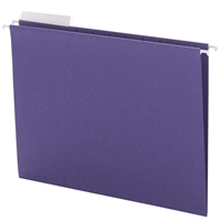 Smead Purple Hanging Folders with 1/3-Cut tabs (64023) Box of 25