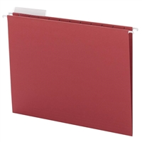 Smead Red Hanging Folders with 1/3-Cut tabs (64024) Box of 25