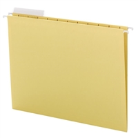 Smead Yellow Hanging Folders with 1/3-Cut tabs (64025) Box of 25