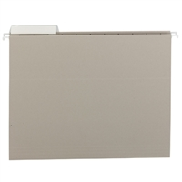 Smead Gray Hanging Folders with 1/3-Cut tabs (64027) Box of 25