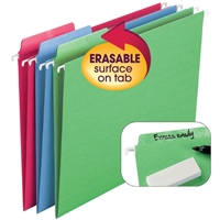 Smead Erasable FasTab Hanging File Folder, Letter, 18/Box (64031)