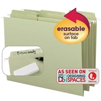 Smead Erasable FasTab Hanging Folders Moss (64032) Box of 20