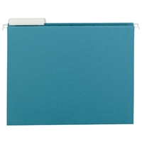 Smead Teal Hanging Folders with 1/3-Cut tabs (64033) Box of 25