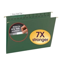 Smead Standard Green TUFF Hanging Folders with Easy Slide Tab (64036)
