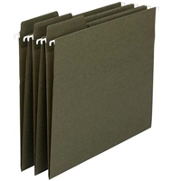 Smead 100% Recycled FasTab Hanging File Folder, Moss, 20/Box (64037)