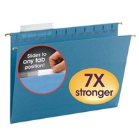 Smead Blue TUFF Hanging Folders with Easy Slide Tab (64041)
