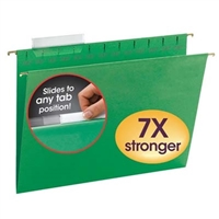 Smead Green TUFF Hanging Folders with Easy Slide Tab (64042)
