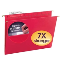 Smead Red TUFF Hanging Folders with Easy Slide Tab (64043)