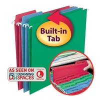 Smead FasTab Hanging File Folders with Built-in Tabs (64053)