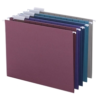 Smead Hanging File Folders, 1/5-Cut Tab, Letter Size, Jewel Tones, 25/Bx (64056)