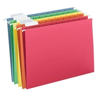 Smead Hanging File Folders, 1/5-Cut Tab, Letter Size, Colors (64059)