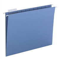 Smead Hanging File Folders, 1/5-Cut Tab, Letter Size, Blue, 25/Bx (64060)