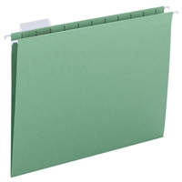 Smead Hanging File Folders, 1/5-Cut Tab, Letter Size, Green, 25/Bx (64061)