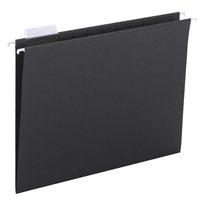 Smead Hanging File Folders, 1/5-Cut Tab, Letter Size, Black, 25/Bx (64062)