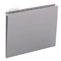 Smead Hanging File Folders, 1/5-Cut Tab, Letter Size, Gray, 25/Bx (64063)