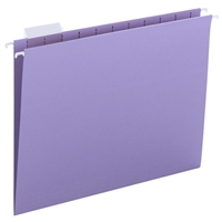 Smead Hanging File Folders, 1/5-Cut Tab, Letter Size, Lavender, 25/Bx (64064)