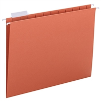 Smead Hanging File Folders, 1/5-Cut Tab, Letter Size, Orange, 25/Bx (64065)