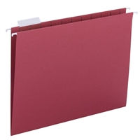 Smead Hanging File Folders, 1/5-Cut Tab, Letter Size, Red, 25/Bx (64067)