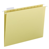 Smead Hanging File Folders, 1/5-Cut Tab, Letter Size, Yellow, 25/Bx (64069)