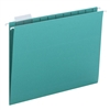 Smead Hanging File Folders, 1/5-Cut Tab, Letter Size, Teal, 25/Bx (64074)