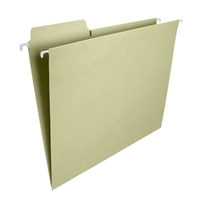 Smead FasTab Hanging File Folder, 1/3-Cut Tab, Moss, 20/Box (64082)