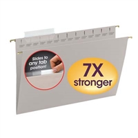 Smead TUFF Hanging Folder w/ Easy Slide Tab 64093 1/3-Cut Sliding Tab Legal Steel Gray