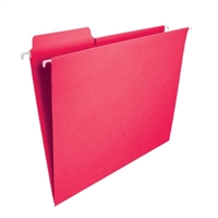 Smead FasTab Hanging File Folder, 1/3-Cut Tab, Red, 20/Box (64096)