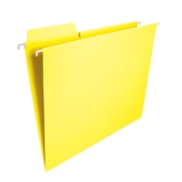 Smead FasTab Hanging File Folder, 1/3-Cut Tab, Yellow, 20/Box (64097)