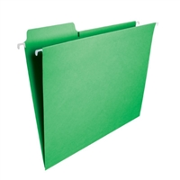 Smead FasTab Hanging File Folder, 1/3-Cut Tab, Green, 20/Box (64098)