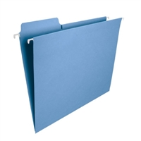 Smead FasTab Hanging File Folder, 1/3-Cut Tab, Blue, 20/Box (64099)